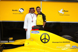 Jordan unveil the new goodwill message from Bahrain: Crown Prince Shaikh Salman bin Hamad Al Khalifa and Eddie Jordan