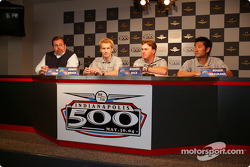 Team Rahal's Scott Roembke, Kenny Brack, Buddy Rice, Roger Yasukawa