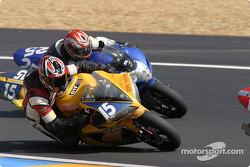 #15 Team Zone Rouge Yamaha R1: Michel Nickmans, Tom Vanlandschoot