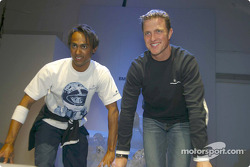 Ralf Schumacher and a model