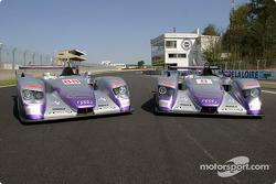 The two Audi Sport UK Team Veloqx Audi R8