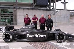 Newman/Haas announcement: Mark Shamberger, Tim Wardrop, Jim McGee, Bruno Junqueira