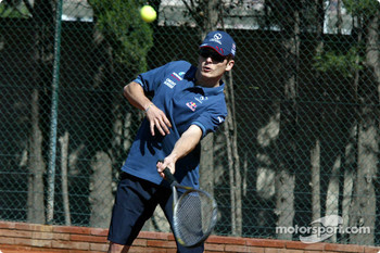 Tennis charity tournament at the Open Sports Club in Barcelona: Giancarlo Fisichella