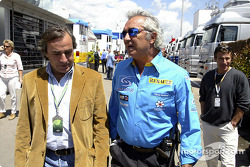 Flavio Briatore and World Rally Championship driver Carlos Sainz