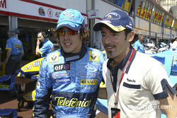 Fernando Alonso with Max Biaggi