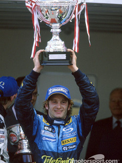 Podium: race winner Jarno Trulli