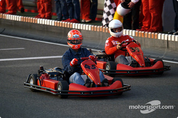 Karting at Kerpen: Michael Schumacher and Rubens Barrichello