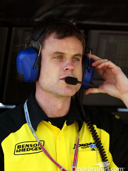 Jordan race engineer Dominic Harlow