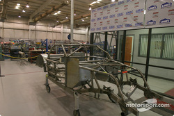 Visit of Hendrick Motorsports: chassis inside one of the shops
