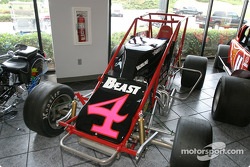 NASCAR-CUP: Visit of Hendrick Motorsports: Jeff Gordon's Sprint car on display in the museum