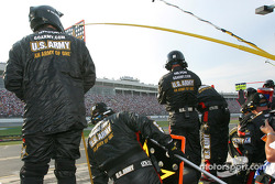 U.S. Army crew wait for Joe Nemechek