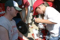 Dale Earnhardt Jr. meets a 'Make a wish' kid