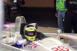 Jamie Davis waiting to qualify