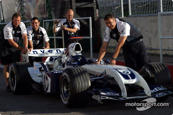 Williams goes to technical inspection