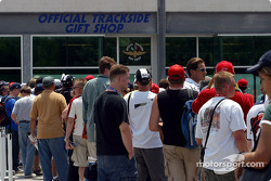 Fans at Trackside gift shop