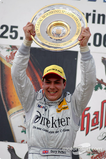 Podium: race winner Gary Paffett