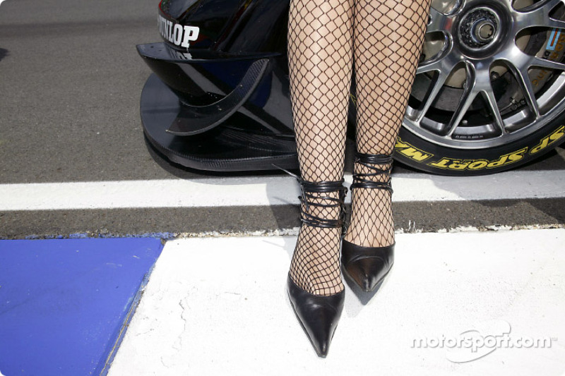 Shoes of a grid girl