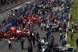 Activity on the starting grid