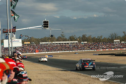 Marcos Ambrose, Steven Richards and Garth Tander finish one, two and three