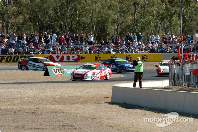 Action at turn three
