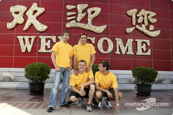 Heinz-Harald Frentzen, Timo Scheider, Marcel Fassler and Jeroen Bleekemolen