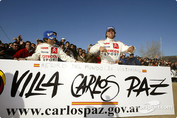 Carlos Sainz and Marc Marti celebrates a record 26th win in WRC