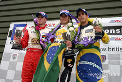 Podium: race winner Nelson A. Piquet with Adam Carroll and Lucas di Grassi