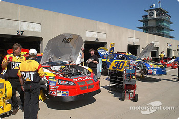 Morning in the pits at Indy