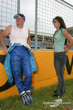 Paul Tracy with his girlfriend Patricia