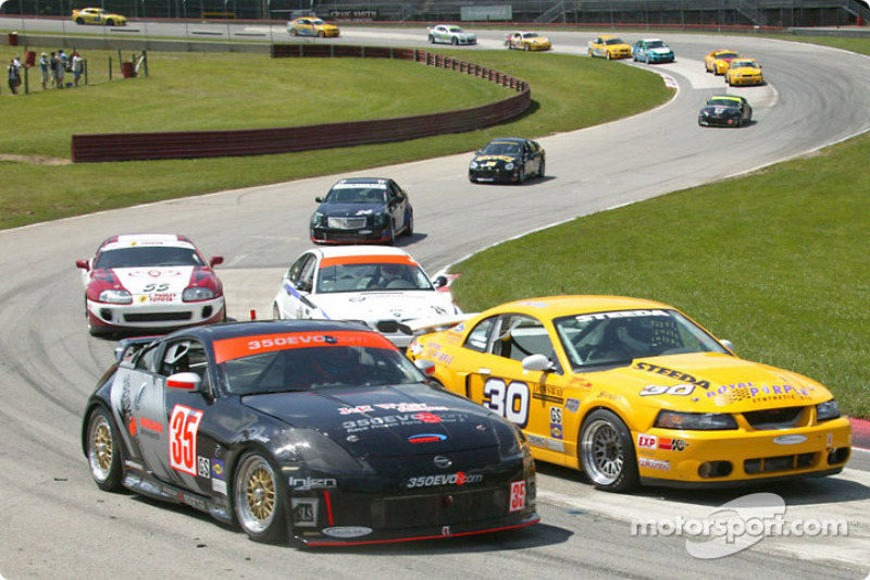 #35 Schuitemaker Motorsports Nissan 350Z: Michiel Schuitemaker, B.J. Zacharias, #30 Shreiner Racing Mustang Cobra: John Shreiner, Jeff Lapcevich