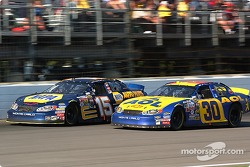 Dave Blaney passes Michael Waltrip