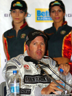 A relaxed Paul Morris after grabbing 3rd spot for the Betta Electrical 500