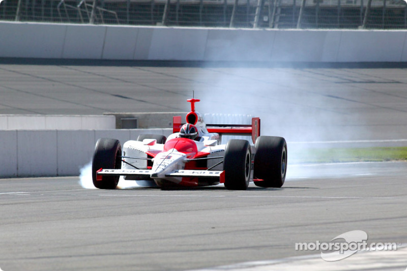 Helio Castroneves on pit road