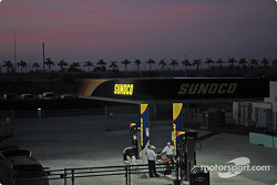 Early morning activity at Homestead-Miami Speedway