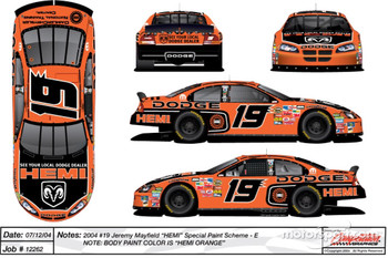 Special paint scheme on Jeremy Mayfield's Dodge