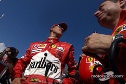 Michael Schumacher and Jean Todt on the starting grid