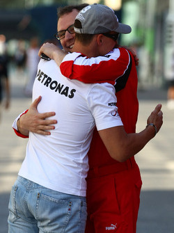 Michael Schumacher, Mercedes GP and Stefano Domenicali Ferrari General Director
