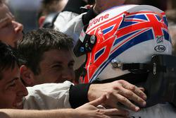 Third place Jenson Button, McLaren Mercedes