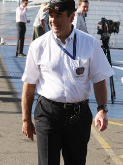 Nigel Mansell FIA Race Steward