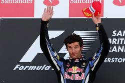 Podium: race winner Mark Webber, Red Bull Racing