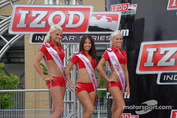 Victory lane: the charming Miss Budweiser girls