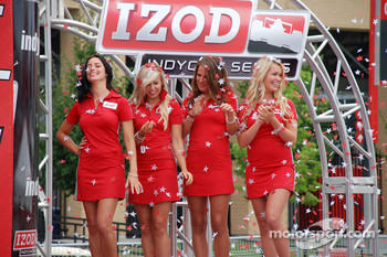 Podium: the charming Miss Budweiser girls