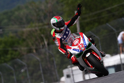 #72 Foremost Insurance/Pegram Racing - Ducati 1098R: Larry Pegram salutes the crowd