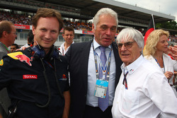 Christian Horner, Red Bull Racing, Sporting Director and Bernie Ecclestone