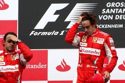 Podium: race winner Fernando Alonso, Scuderia Ferrari, second place Felipe Massa, Scuderia Ferrari