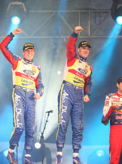 Podium: rally winners Jari-Matti Latvala and Miikka Anttila