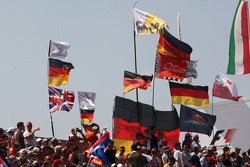 Flags in the crowd