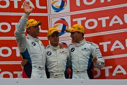 Podium: third place Dirk Werner, Dirk Müller and Dirk Adorf