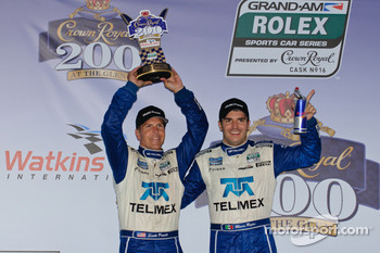 DP podium: class and overall winners Memo Rojas and Scott Pruett celeberate