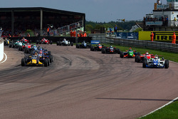 Jean-Eric Vergne leads from pole position